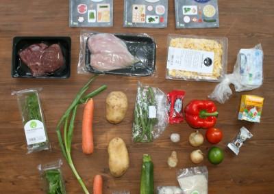 Der Inhalt der Kochbox